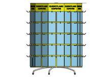 Metal display rack / curved