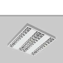 Surface-mounted light fixture / LED / square / steel