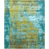 Contemporary rug / patterned / wool / viscose