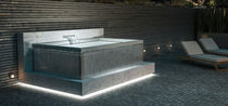 Above-ground hot tub / rectangular / 4-seater / outdoor