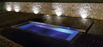 Built-in hot tub / rectangular / 2-seater / outdoor