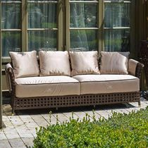 Traditional sofa / garden / rattan / 4-seater
