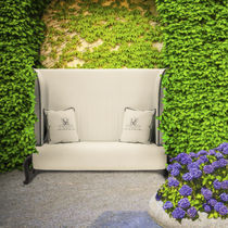 Traditional sofa / garden / fabric / aluminum