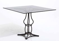 Traditional table / marble / square / garden