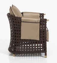 Contemporary armchair / rattan / garden