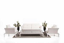 Traditional sofa / garden / rattan / 2-seater