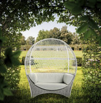 Original design sofa / garden / rattan / 2-seater