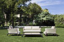 Traditional sofa / garden / resin wicker / 2-seater