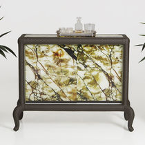 Traditional sideboard / resin wicker / aluminum / garden
