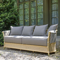 Traditional sofa / garden / rattan / 3-seater