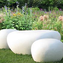 Garden bench / original design / fiber-reinforced concrete