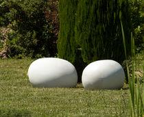 Original design pouf / fiber-reinforced concrete / garden / outdoor