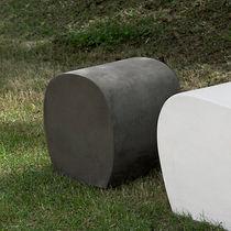 Contemporary pouf / cement / garden
