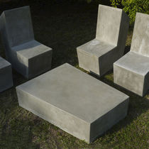 Contemporary coffee table / cement / for public buildings / outdoor