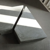 Contemporary coffee table / cement / trapezoidal / commercial