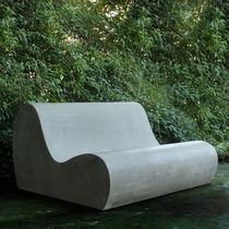 Original design sofa / garden / cement / 2-seater