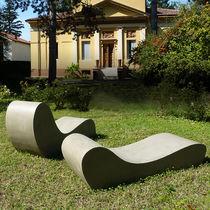 Organic design sun lounger / cement / garden / patio