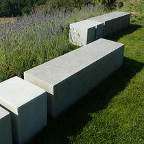 Garden bench / contemporary / concrete