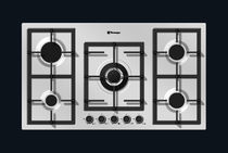 Gas cooktop / wok / cast iron / with grill