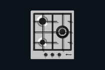 Gas cooktop / vitroceramic / cast iron / with grill