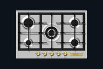 Gas cooktop / with grill / wok / cast iron