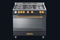 Gas range cooker / electric / dual-fuel / with grill