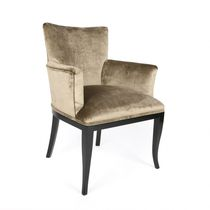 Traditional chair / upholstered / fabric / oak