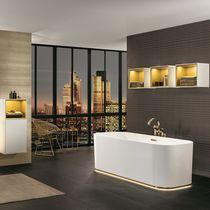 Contemporary bathroom / ceramic / lacquered wood