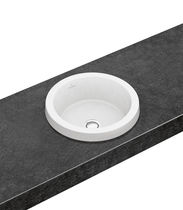 Built-in washbasin / round / porcelain / contemporary