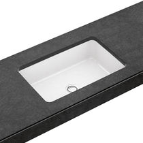 Built-in washbasin / rectangular / porcelain / contemporary
