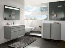 Double washbasin / built-in / rectangular / ceramic