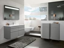 Double washbasin / built-in / rectangular / ceramic