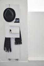 Hot water towel radiator / electric / aluminum / original design