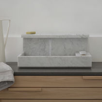 Countertop washbasin / rectangular / marble / original design