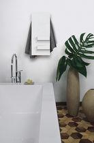 Electric towel radiator / storage / metal / contemporary