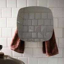 Hot water towel radiator / electric / storage / glass