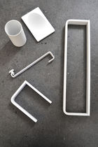 1-bar towel rack / more than 3 bars / wall-mounted / stainless steel