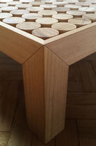Contemporary coffee table / wooden / square / custom