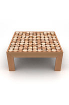 Contemporary side table / wooden / square / custom