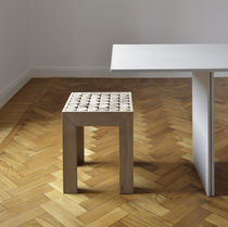 Contemporary stool / wooden / 100% recyclable