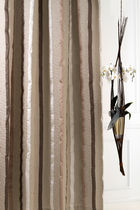Curtain fabric / striped / linen / jacquard