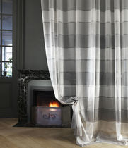 Striped sheer curtain fabric