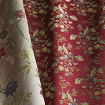 Upholstery fabric / floral pattern / silk / lampas