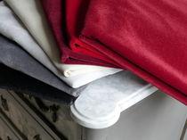 Upholstery fabric / plain / velvet / fire-rated