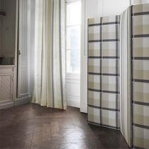Upholstery fabric / plaid / geometric pattern / cotton