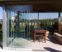 Sliding patio door / aluminum / double-glazed