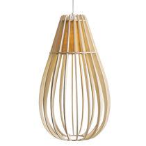 Pendant lamp / traditional / birch / bamboo