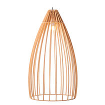 Pendant lamp / traditional / wooden / LED