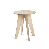 Traditional side table / wooden / round