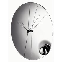 Contemporary clock / analog / wall-mounted / glass